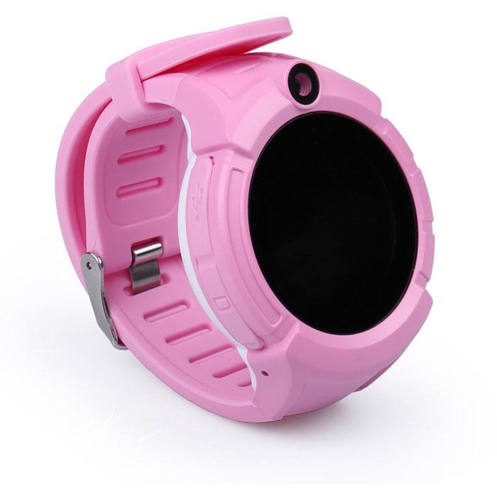 Детские часы с GPS-трекером и камерой Wonlex GW600 Q360 розовые цена ... 14c19037dac27