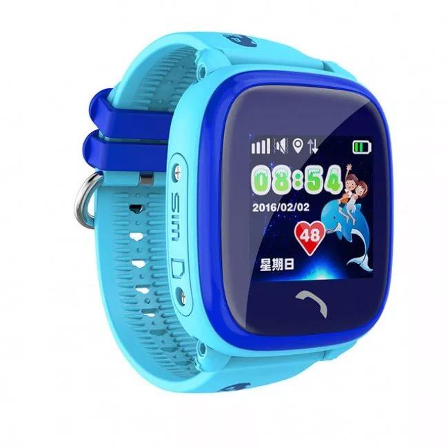 Детские водонепроницаемые часы с gps трекером Smart Baby Watch Wonlex  GW400S голубые 6742b085570dd
